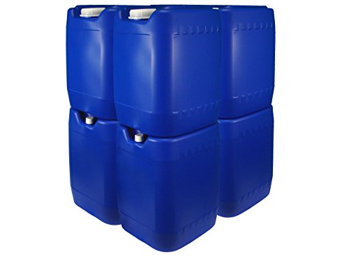 (Poly Farm Stackable Emergency Water Storage Carboy, 5 gallon, Blue, 8-pack with spigot ...)