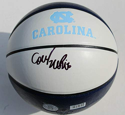(Coby White Signed Full Size UNC North Carolina Tar Heels Basketball W/COA - Autographed College Basketballs)