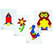 Learning Advantage 8837 Pattern Block Activity Cards (Pack of 20)
