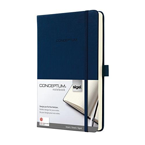 Sigel CO577 Notizbuch, ca. A5, liniert, Hardcover, dunkelblau, CONCEPTUM - weitere Farben und Größen auswählbar