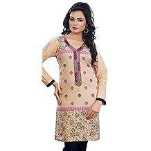 Long Sleeve Blouse Indian Kurti Womens Tunic Top Cotton
