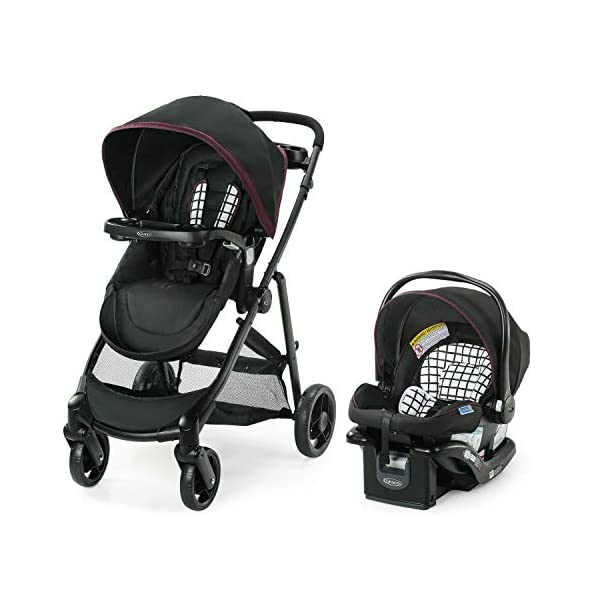 Graco Modes Element Travel System, Includes Baby Stroller with Reversible Seat, Extra Storage, Child Tray and SnugRide