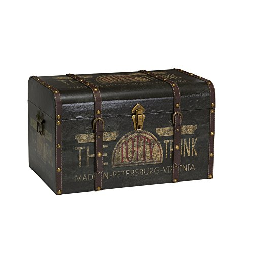 Chest Storage Decorative (Household Essentials 9243-1 Large Vintage Decorative Home Storage Trunk - Luggage Style)