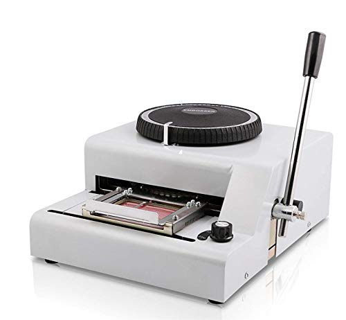 BestEquip Embossing Machine 72 Character Card, Embosser Stamping Machine Manual, Embosser Machine for PVC Gift Card, Personalized VIP Cards, Club Cards, Membership Cards
