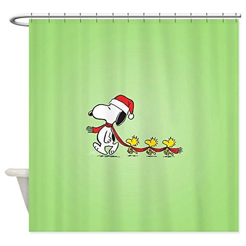 CafePress Snoopy and Bird Friends Decorative Fabric Shower Curtain (69