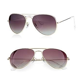 PINGLAS Classic Aviator Sunglasses for Men Women Metal Frame Polarized Coating Lens, UV400 (Brown Gradient)