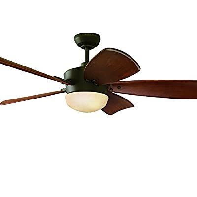 Harbor Breeze 60-in Saratoga Oil-Rubbed Bronze Ceiling Fan with Light Kit and Remote