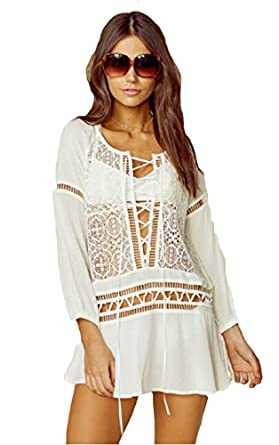 For Love & Lemons Martinique Mini Dress at Amazon Women's Clothing
