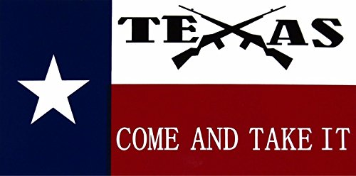 K's Novelties Wholesale Lot of 6 Texas Come and Take It Crossed Rifles Decal Bumper Sticker Set of 6