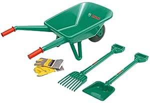 Theo Klein-2752 Bosch Set De Jardineria Con Carrito De Jardinero, 4 Piezas, Juguete Multicolor (2752)