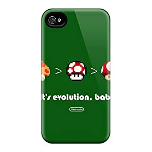 Excellent Iphone 4/4s Case Tpu Cover Back Skin Protector Its Evolution Baby
