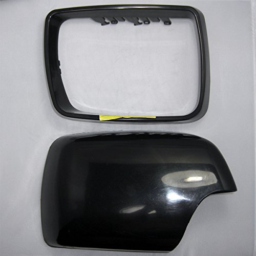 - CNAutoLicht 2000-2006 Passenger Right Side For BMW E53 X5 Rearview Door Mirror Cover Cap Casing & Ring Trim Primered