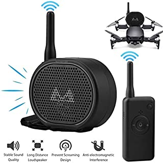 EMGOD Drone Megaphone,Drones Wireless Speaker Accessories, Mini Portable Remote Control,for DJI Mavic Mini/Pro/Air Mavic 2 / Spark/Xiaomi FIMI X8 / Hubsan Zino/Phantom 3 4 Pro,Black