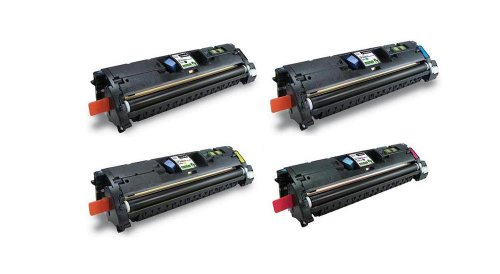 (Amsahr EP87BK High Yield Remanufactured Replacement HP Toner Cartridge for Select Printers/Faxes - 1 Black/ 3 Color)