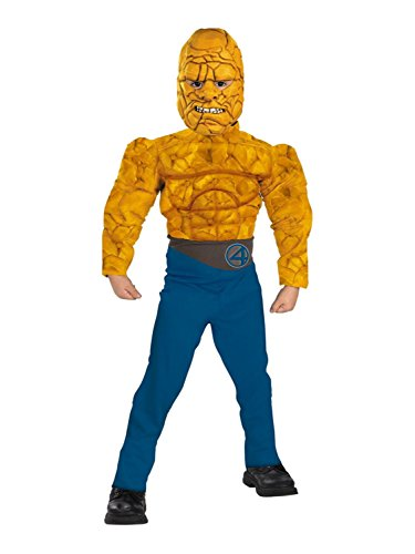 Fantastic Four Costumes The Thing - Marvel Fantastic Four Boys The Thing Muscle Costume Jumpsuit & Mask Small 4-6