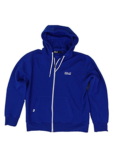 Ralph Lauren Polo Sport Men's Full Zip Performance Fleece Hoodie (L, Sapphire Star)