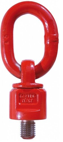 All Material Handling C8000101620 Swivel Eye Bolt with Ring, G80 Hoist Ring, M16 x 20 mm, 1 Ton