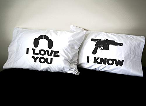 Star Wars Inspired Pillowcases Set- Standard Size 100% Eygptian Cotton Pillowcase Set- Star Wars Pillows Not Included