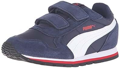 PUMA St Runner Nl V Ps Sneaker (Little Kid/Big Kid), Peacoat/Puma White/High Risk Red, 11.5 M US Little Kid