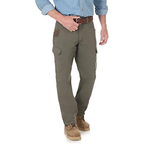 (Wrangler Men's Riggs Workwear Cool Vantage Ripstop Cargo Pant, loden, 40X34)
