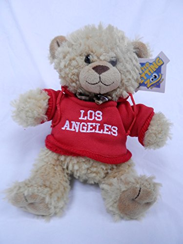 """The Petting Zoo 8"""" Los Angeles Red Hooded Sweatshirt Beige Bear"""