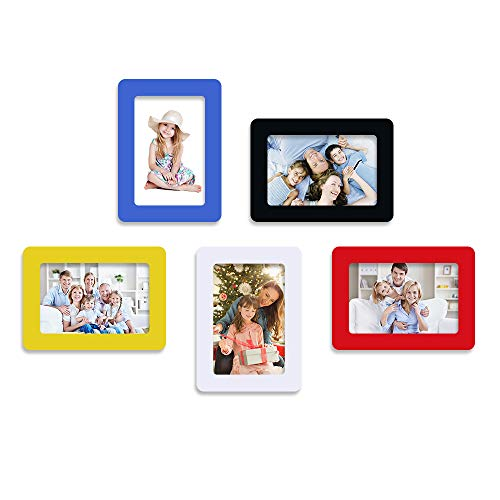 UCMD Magnetic Picture Frame 4 x 6 Photo Collage Set Frame Magnets for Refrigerator, Wall, 5 Colors 5 - Collage Magnet