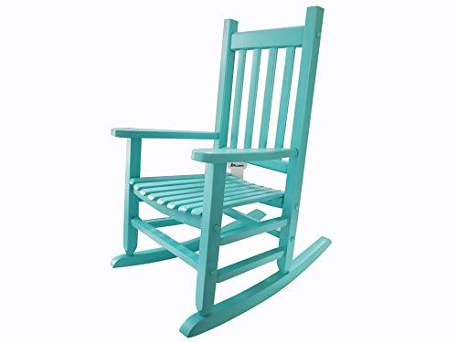 (Rockingrocker - K086BU Durable Bule Child's Wooden Rocking Chair/Porch Rocker - Indoor or Outdoor - Suitable for 4-8 Years Old)