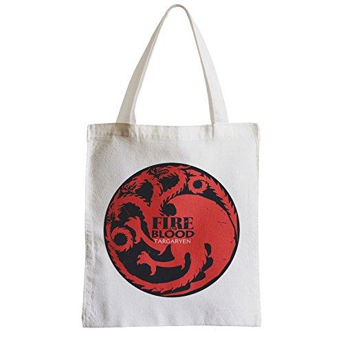 Große Tasche Sack Einkaufsbummel Strand Schüler Game Of Thrones Haus Targaryen Feuer und Blut EfVZboqiT