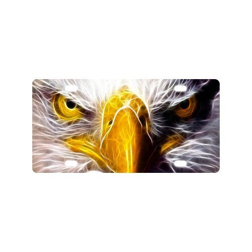 American Bald Eagle Face Eyes License Plate Novelty Tag