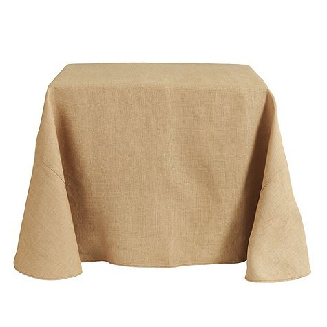 Tablecloth Burlap Natural Square 100 Inch By Broward Linens