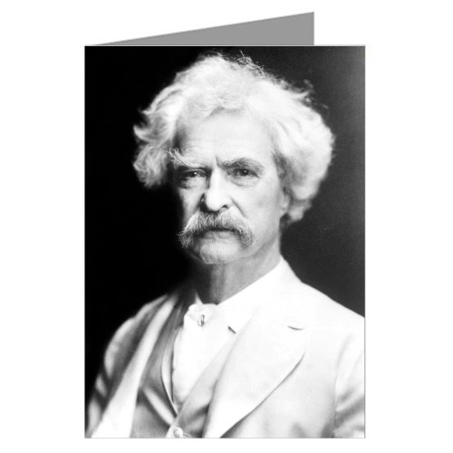 (Six Mark Twain - American Author, Adventurer, Inventor, Riverboat Captain Pictured Here in 1907 - Greeting Cards in a Boxed Set)
