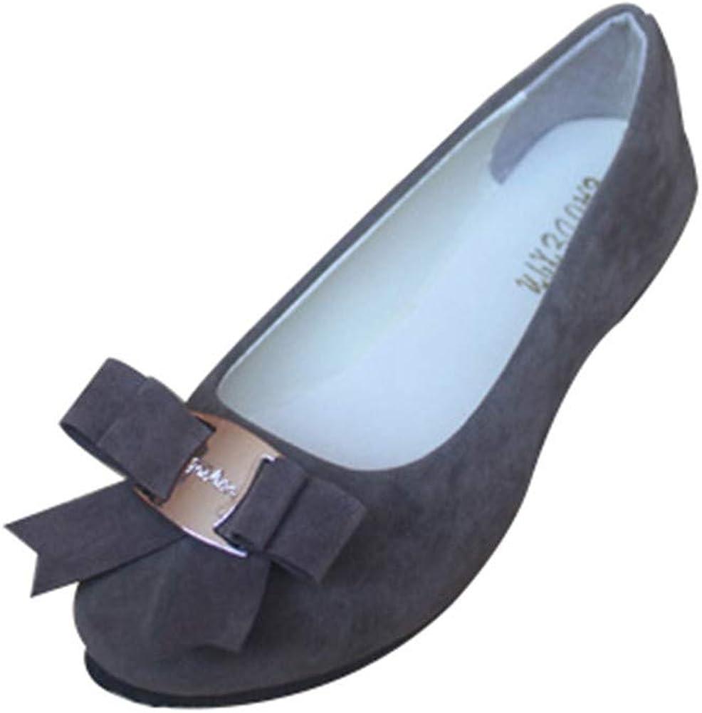 Mujer Manoletinas Zapatos Pumps Cerrados Bailarina cl/ásico Pajarita del tal/ón del Plano