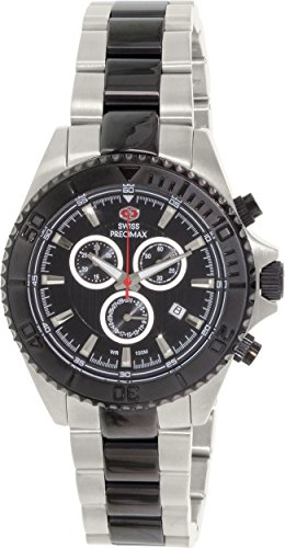 Swiss Precimax Men's SP12197 Maritime Pro Black Dial Two-Tone Stainless Steel Band Watch