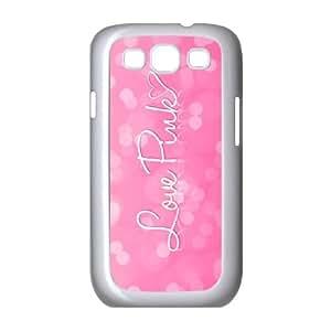 HB-P-CASE DIY Design Love Pink Pattern Phone Case For Samsung Galaxy S3 I9300