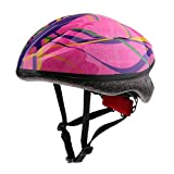 perfk Kids Safety Hat Children's Multi-Sport Adjustable Bike Helmet Cycling Skating Scooter for Girls/Boys - Pink M