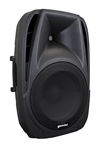 Gemini ES Series ES-15TOGO Professional Audio DJ 15-inch Woofer Active Battery Powered PA Loudspeaker with 2 Wireless Microphones Bluetooth Compatible