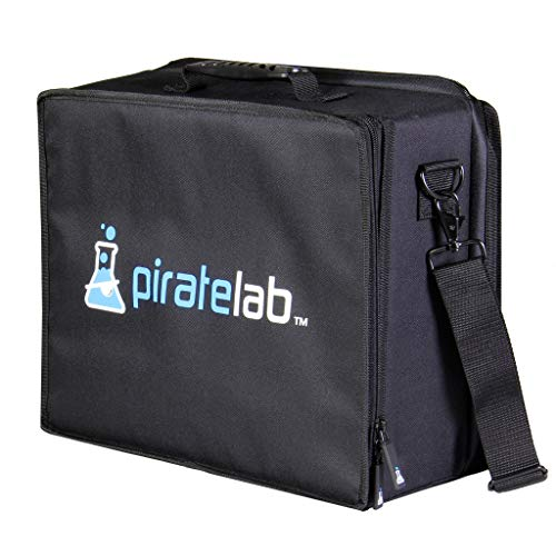Pirate Lab Large Collectible Card Carrying Case (Black Logo, 3-Row Armor Foam Tray)