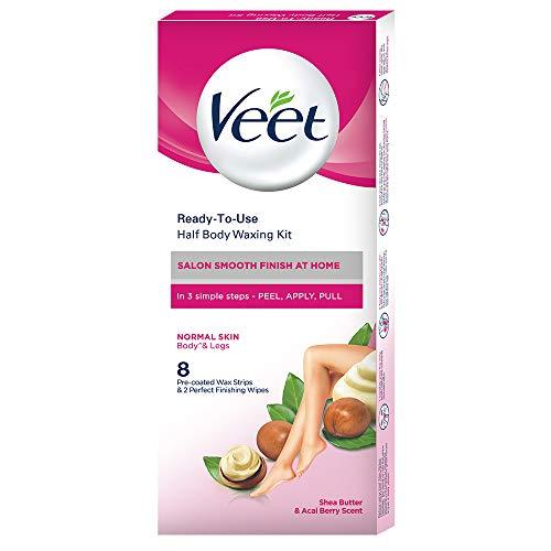Veet Full Body Waxing Strips Kit for Normal Skin, 20 Strips