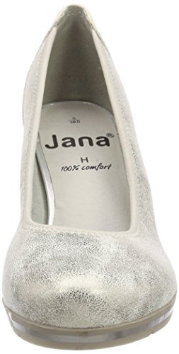 Jana da lt donna pumps oro bianco con oro plateau 22408 rqEP1ar