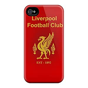 Premium Best Fc Of England Liverpool Back Cover Snap On Case For Iphone 4/4s