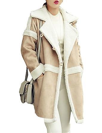 Damen Solide Einfach   Street Schick Ausgehen   Lässig Alltäglich Mantel,Herbst    Winter b509978aeb