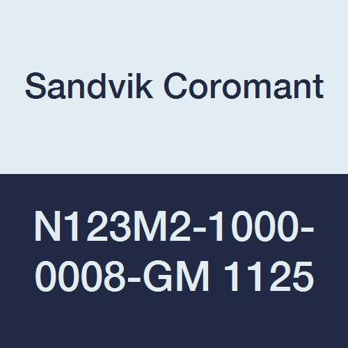 Sandvik Coromant N123M2-1000-0008-GM 1125 PVD Coated Carbide CoroCut 1-2 Parting and Grooving Insert for Grooving, Neutral Cut, Size M (Pack of 10)