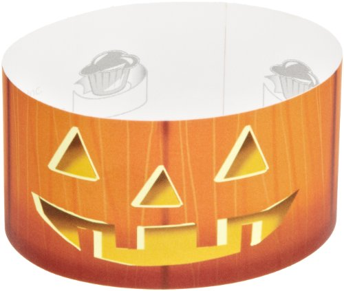 Roundabouts Cupcake Sleeves Jack O'Lantern Cupcake Sleeve (Pack of 24) -