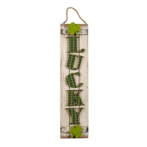 sh Lucky Shamrock Wall Hanging Front porch decor (Patricks Day Plaque)