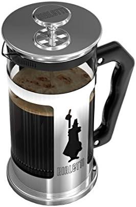 Bialetti 0003130/NW CAFETIERE Piston PREZIOSA 1 L, Acier 18/10, 8 Tasses