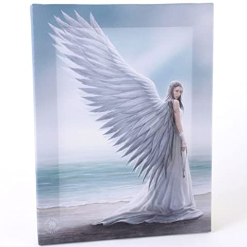 Fantastic Anne Stokes Design Spirit Guide Angel - A Gothic Angel Holding a key Standing on a Beach Canvas Picture on Frame Wall Plaque / Wall Art by ANNE STOKES
