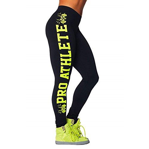 Plus Size Slim Fit Women Leggings Print Letters Fitness Bodybuilding Workout Leggins Elastic Cotton Joggers Pants Leggings (Black-Yellow, (2)