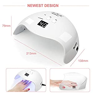 Gel Led Light,LKE Curing Lamps 48W Nail Dryer UV Light Nails Lamp With Smart Sensor Gel UV Led Nail Lamp for Gel Nail…