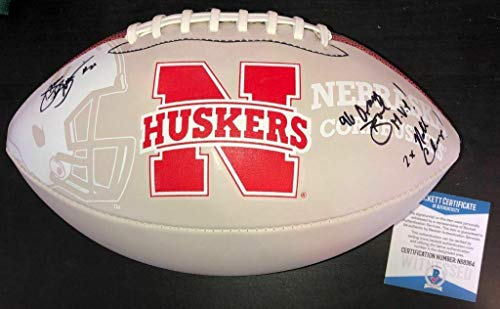 Damon Benning Signed Nebraska Cornhuskers Logo Football Beckett Witness Coa - Beckett Authentication