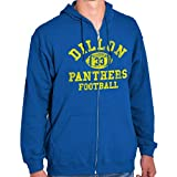 Friday Night Game Panthers Football Jersey Zip Hoodie